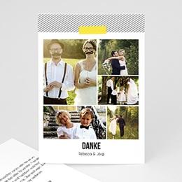 Danksagungskarten Hochzeit  - Neon Gelb - 0