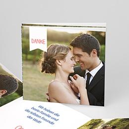 Danksagungskarten Hochzeit  - Verspielt - 0