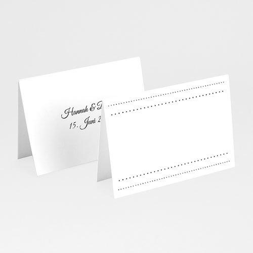 Tischkarten Hochzeit personalisiert - Eleganz  Carteland.de