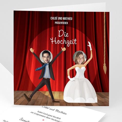 Hochzeitseinladungen modern - Theater 42685