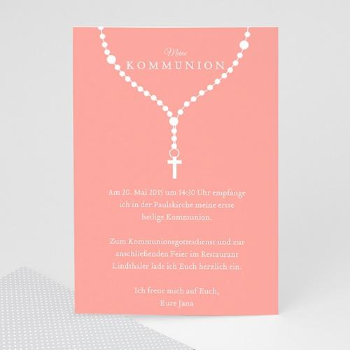 Einladungskarten Kommunion Mädchen - Kette mit Kranz  42706