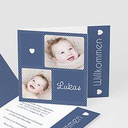 Babykarten für Jungen - Pünktchen in Blau. - 0