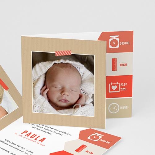 Geburtskarten für Mädchen - Notizen 42730