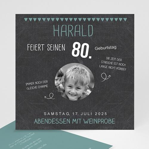 Runde Geburtstage - 80 Jahre Schiefertafel 42750