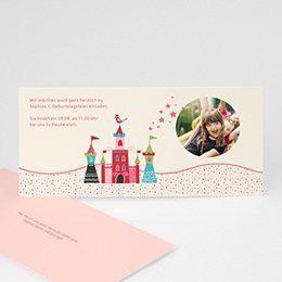 Geburtstagseinladungen Mädchen - Schloss - 0
