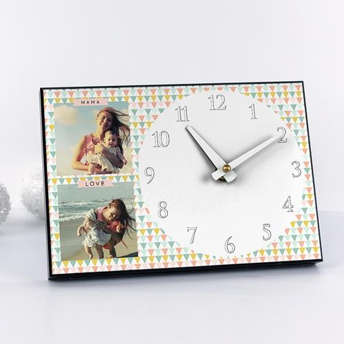 Fotouhr  20 x 14 cm - Bunte Dreiecke 42923