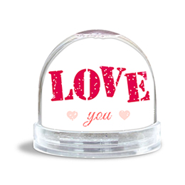Glitzerkugel - Pink Love - 0