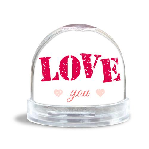 Glitzerkugel - Pink Love 42925