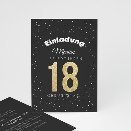 Runde Geburtstage - Goldene 18 43047