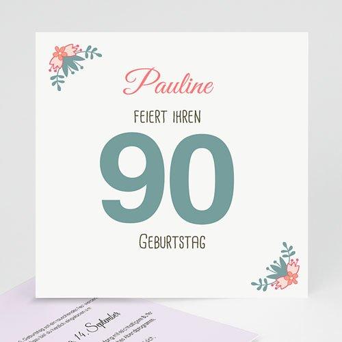 Runde Geburtstage - 90 blühende Lebensjahre 43122