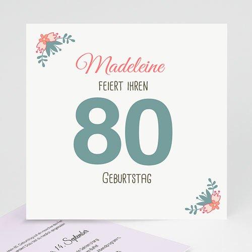 Runde Geburtstage - 80 wunderschöne Blumen 43134
