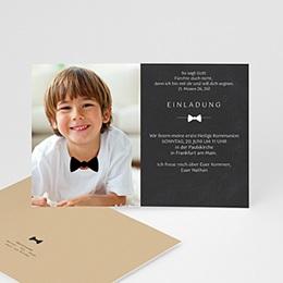 Einladungskarten Kommunion Jungen - Festliche Fliege - 0