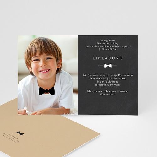 Einladungskarten Kommunion Jungen - Festliche Fliege 43156