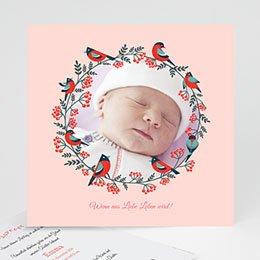 Geburtskarten für Mädchen - Weihnachten Rosa - 0