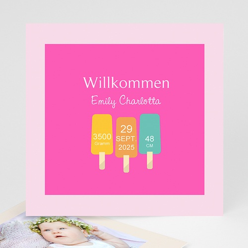 Geburtskarten für Mädchen - Sommer Baby 43535