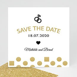 Save The Date  - Pailletten und Ring - 0