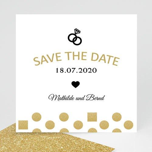 Save The Date  - Pailletten und Ring 43662