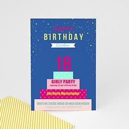 Runde Geburtstage - Geburtstagskuchen - 0