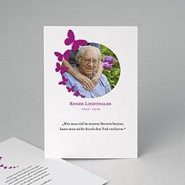 Trauer Danksagung weltlich - Schmetterlinge violett - 0