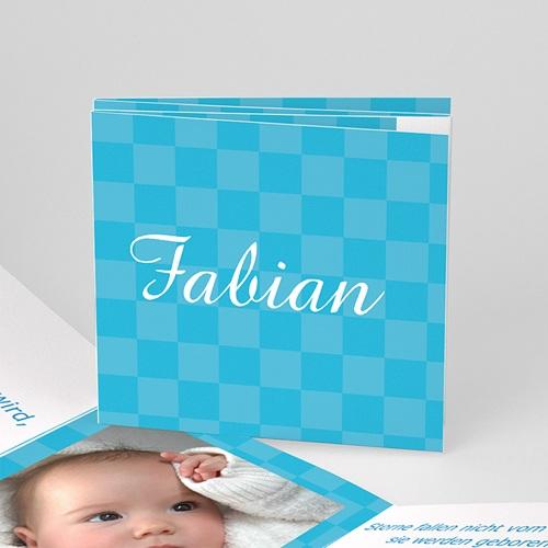 Babykarten für Jungen - Leporello blau 4380