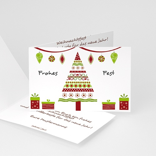 Weihnachtskarten - Weihanchtskarte Dekorative Weihnachten 4416