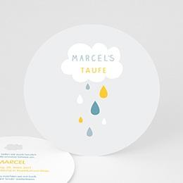 Einladungskarten Taufe Jungen  - Wolke & Tropfen - 0