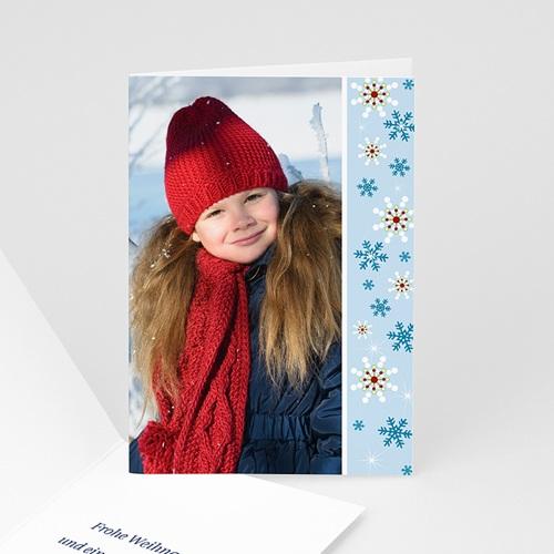 Weihnachtskarten - Weihanchtskarte Schneeflocken 1 4424