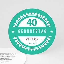 Runde Geburtstage - Vintage Grün - 0