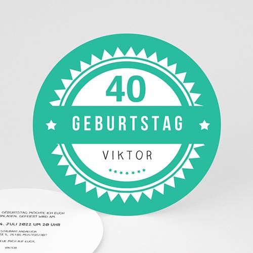 Runde Geburtstage - Vintage Grün 44248