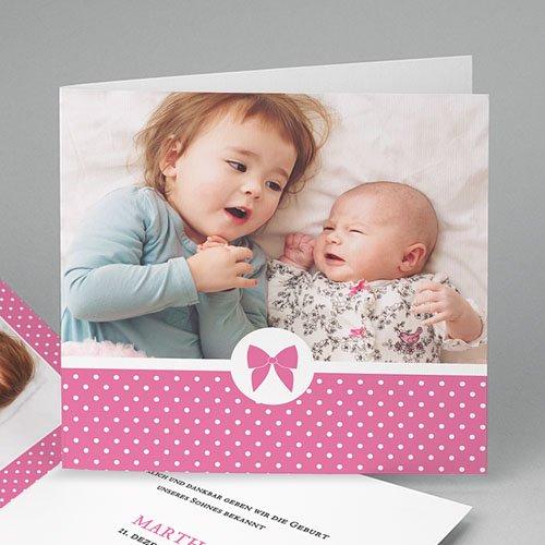 Geburtskarten für Mädchen - Elegant 44282