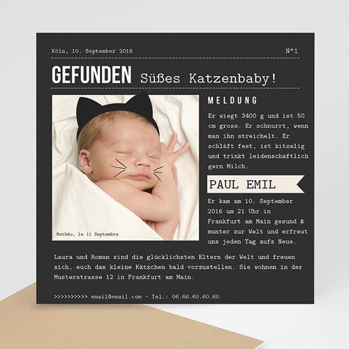 Babykarten für Jungen - Kätzchen 44326
