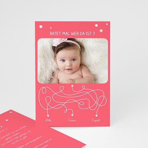 Geburtskarten für Mädchen - Rätsel 44338