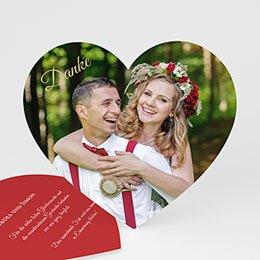 Danksagungskarten Hochzeit  - Danke Herz - 0