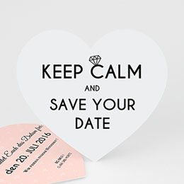 Save The Date  - Herz und Diamant - 0