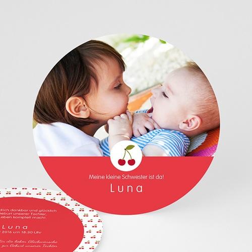 Geburtskarten für Mädchen - Kirsche 44362