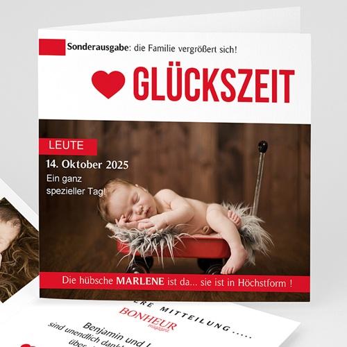 Geburtskarten für Mädchen - Glücksmagazin 44376