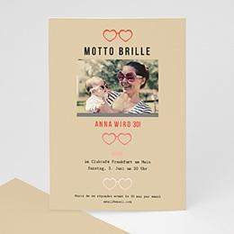 Runde Geburtstage - Motto Brille - 0