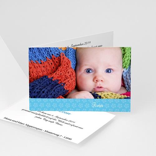 Modell geburtskarten jungen - geburtskarte blümchenmuster 3