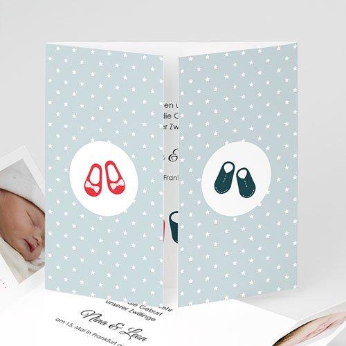 Babykarten für Zwillinge gestalten - Retro Schick 44601