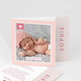 Geburtskarten für Mädchen - Made with Love - 0