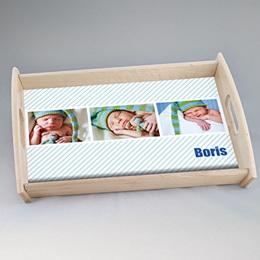 Foto-Tablett  - Babykarte Melvin - 0