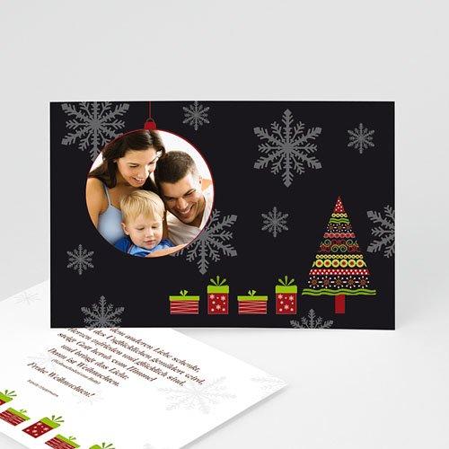 Weihnachtskarten - Schneeflocken 44915
