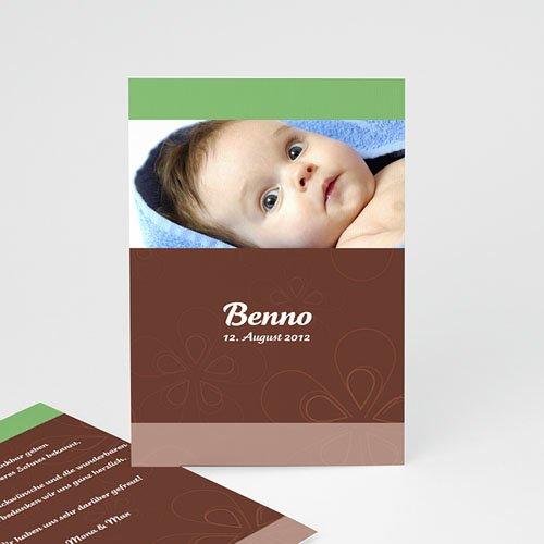 Geburtskarten für Mädchen - Geburtskarte Anis, Schokolade und Créme 4516
