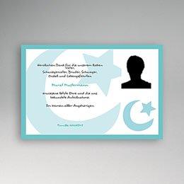 Trauer Danksagung muslimisch - Muslimische Trauerkarte mit Foto - 1