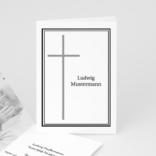 Trauer Danksagung christlich - In Erinnerung an.... in schwarz 4544