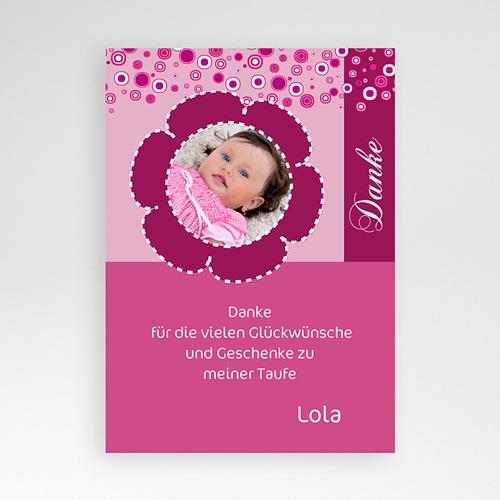 Dankeskarten Taufe Mädchen - Dankeskarte Jonas 455