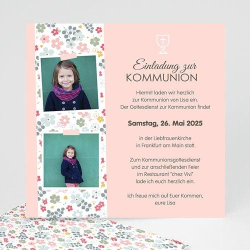 Einladungskarten Kommunion Mädchen - Liberty 45808