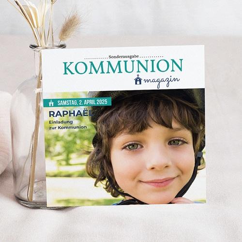 Einladungskarten Kommunion Jungen - Zeitschrift 45847
