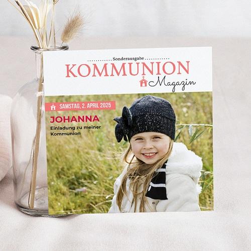Einladungskarten Kommunion Mädchen - Schlagzeilen 45853