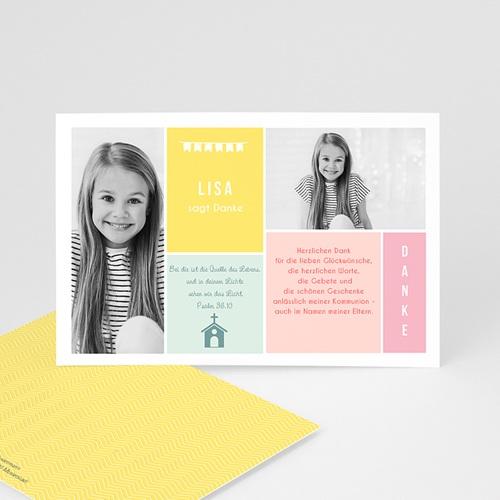 Dankeskarten Kommunion Mädchen - Farben 45903